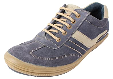 EXPORT SURPLUS Men's Blue Leather Casual Shoes - 7 UK: Buy Online at