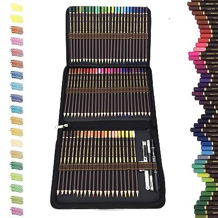 72 Lapices De Colores Profesionaleslapiz Para Colorear De Dibujo Y Bosquejo Material De Dibujo Setincluye Caja De Cremallera Portátilmejores