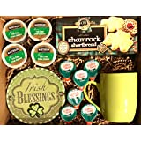 Irish Gifts | St Patricks Day Gifts | St Pattys Care Package | Coffee | Hot Cocoa |Tea | Kids, Teenagers, Adults, College Students, Mom, Dad (Boxed Set - Irish Creme Coffee, Deluxe)
