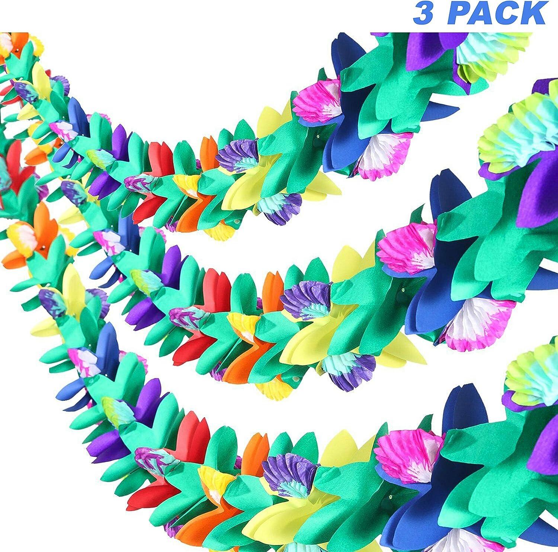 JZK 10 Multiuso Collana Fiori Hawaiana Ghirlanda coroncina Braccialetto per Festa Hawaiana Festa Spiaggia Festa Hawaiana Accessori Decorazioni Estate BBQ a Tema
