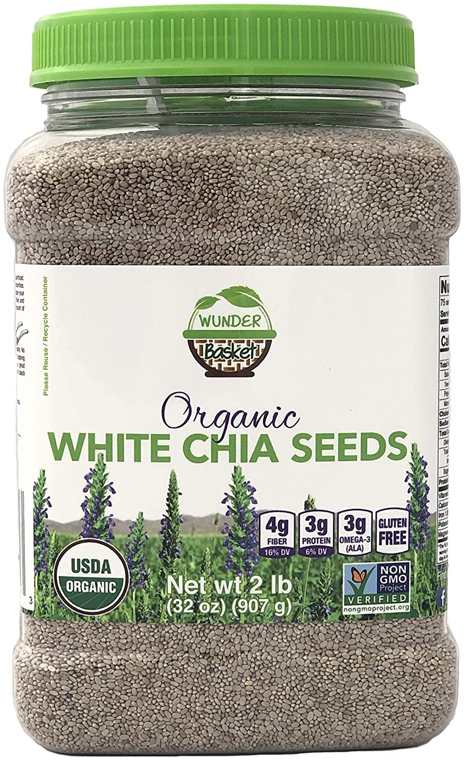 Semillas de Chia de Wunder Basket: Amazon.com: Grocery ...
