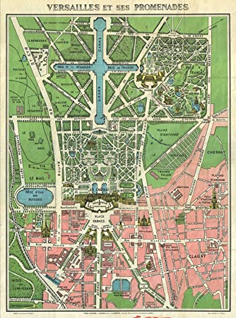Amazoncom Historic S Leconte Map Of Paris WMonuments And - Paris map monuments