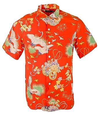 4d98d023 Polo Ralph Lauren Men's Hawaiian Crane Print Short Sleeve Camp Shirt at  Amazon Men's Clothing store: