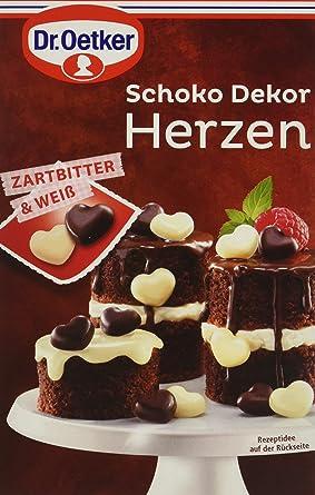 Dr Oetker Schoko Dekor Herzen Zartbitter Weiss 4er Pack 4 X 47 G
