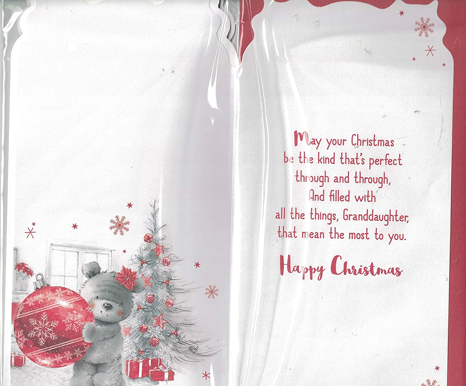 Granddaughter Christmas Card - To A Very Special Granddaughter ...