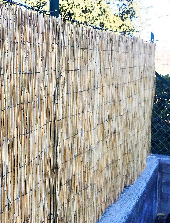 120x300 Cm tex family ARELLA Privacy Plus /© in Bamboo CANNICCIO arelle CANNE per Recinzione Ombra in 7 Misure