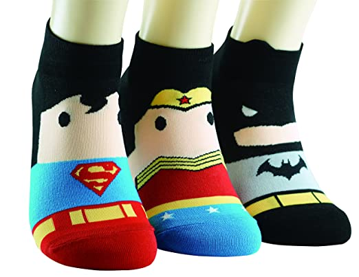DC Comics calcetines BatMan WonderWoman SuperMan Calcetines: Amazon.es: Ropa y accesorios