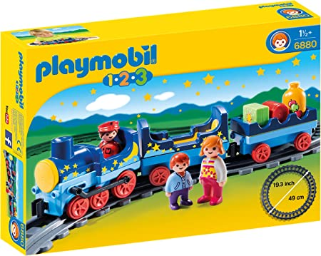 Playmobil 123 railway station train locomotive rail road bridge 6915