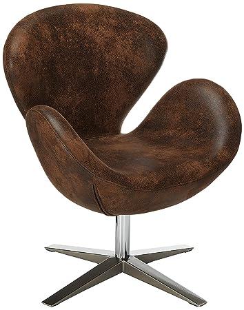 Astounding Christopher Knight Home Blake Brown Aged Microfiber Swan Design Chair W Swivel Seat Bralicious Painted Fabric Chair Ideas Braliciousco