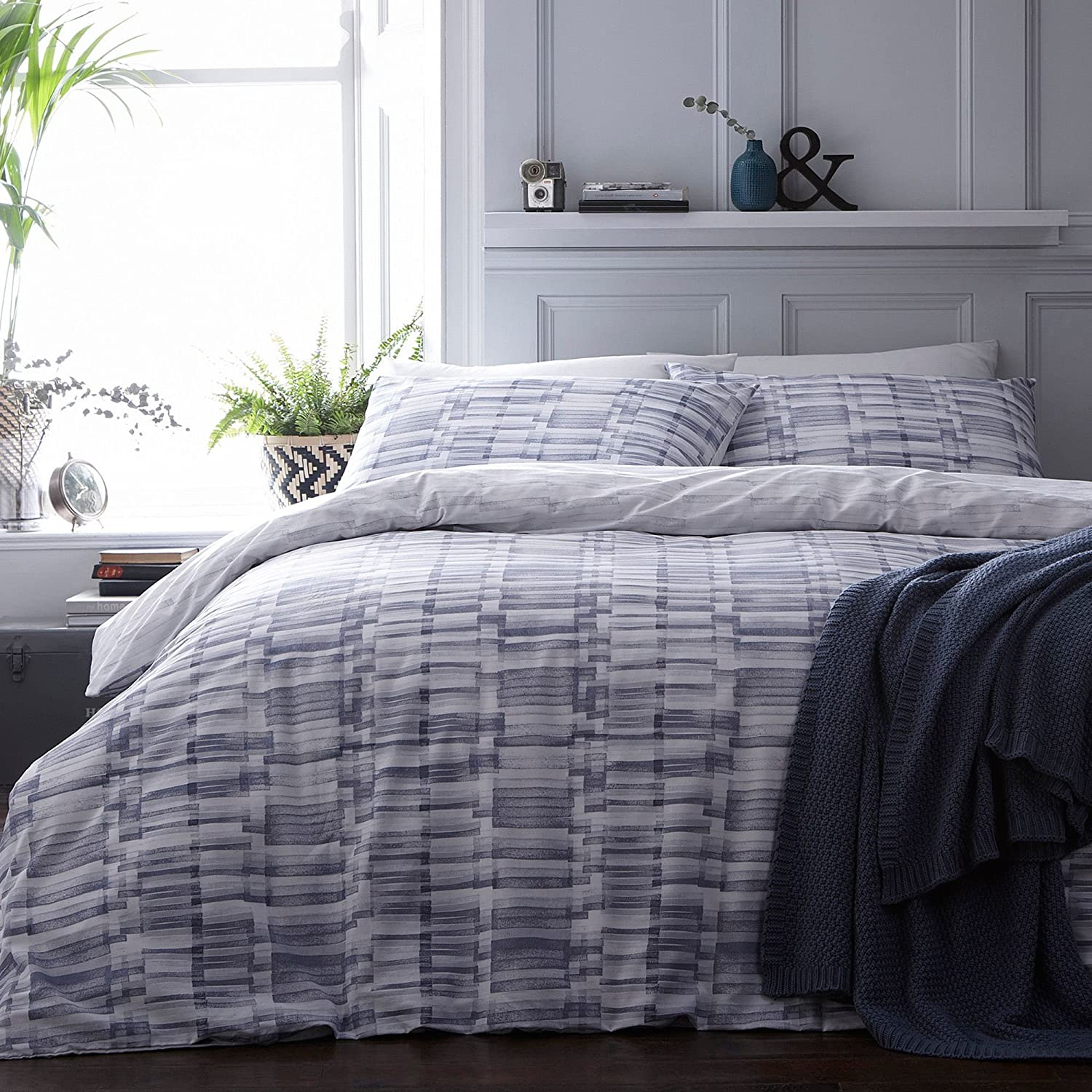 Debenhams Home Collection Blue 'Henry' Bedding Set King
