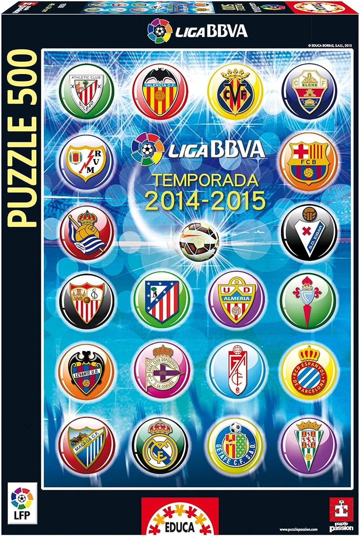Puzzles Educa - Escudos Liga de Fútbol Profesional 2014-15, 500 Piezas (16268): Amazon.es: Juguetes y juegos