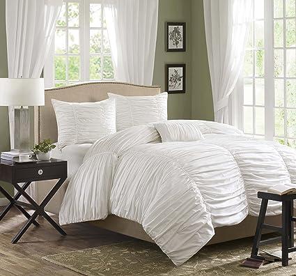 Amazon.com: Madison Park Delancey Queen Size Bed Comforter Set ...