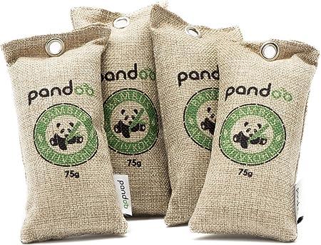 pandoo 4 x 75g Ambientador de bambú natural con carbón activado ...