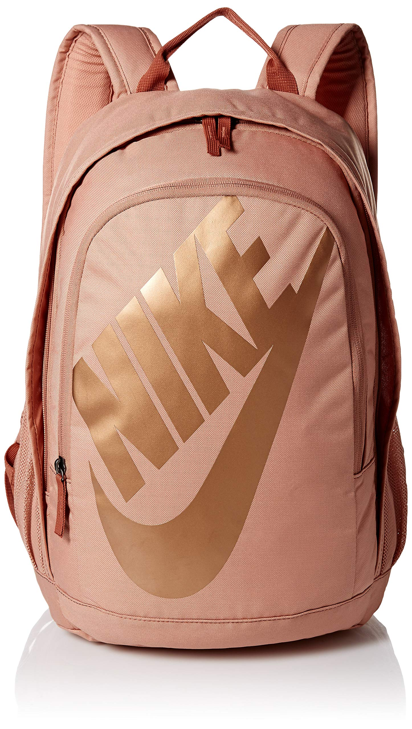 Nike Sportswear Hayward Futura Backpack for Men, Large Backpack with Durable Polyester Shell and Padded Shoulder Straps, Rose Gold/Dusty Peach/Metallic Red by Nike