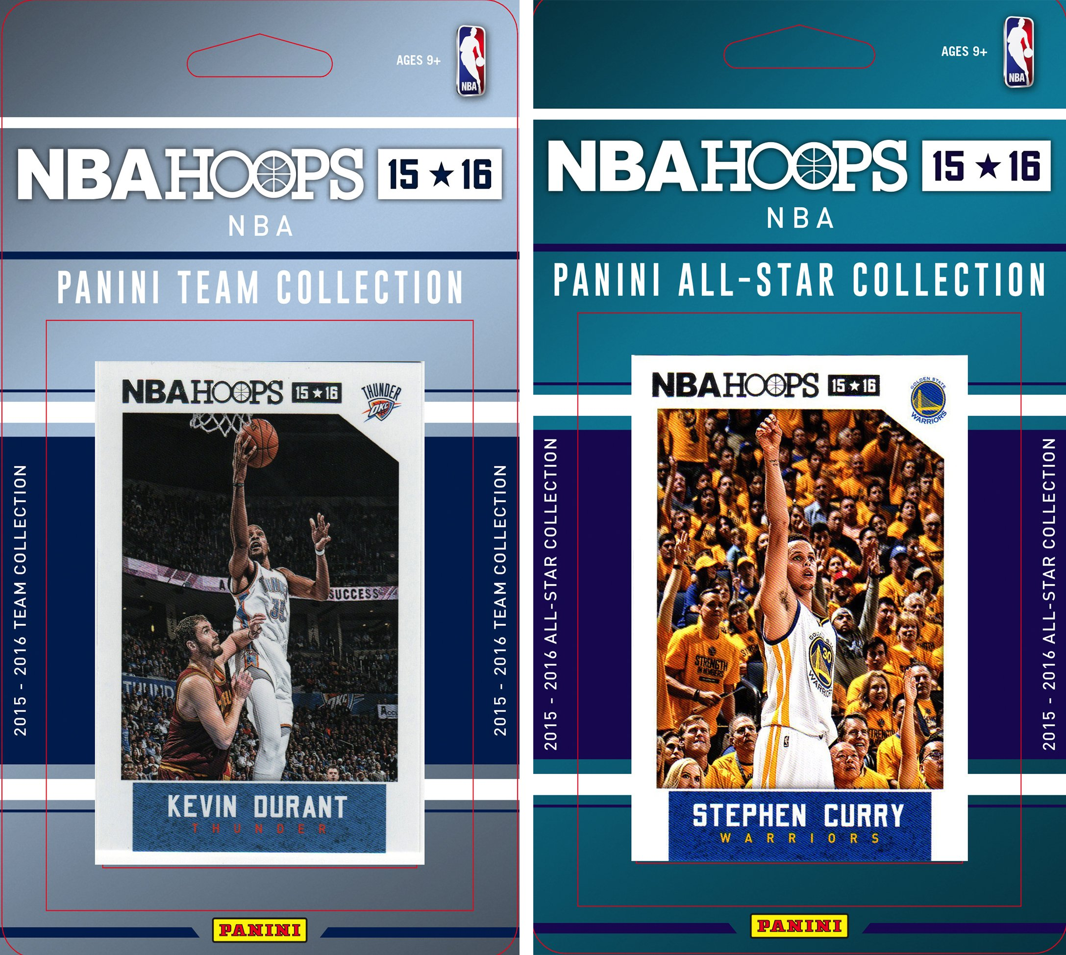 NBA Oklahoma City Thunder Licensed 2015-16 Hoops Team Plus All-Star Trading Card Set