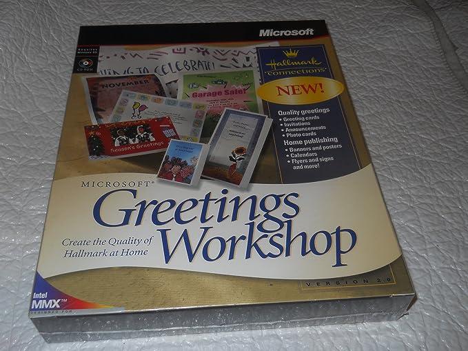 Microsoft greetings workshop ver 20 hallmark connections amazon microsoft greetings workshop ver 20 hallmark connections m4hsunfo