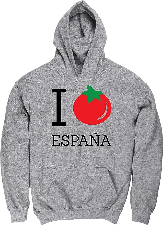 HippoWarehouse I Tomato Love Espana Jersey Sudadera con Capucha suéter Derportiva Unisex niños niñas: Amazon.es: Ropa y accesorios