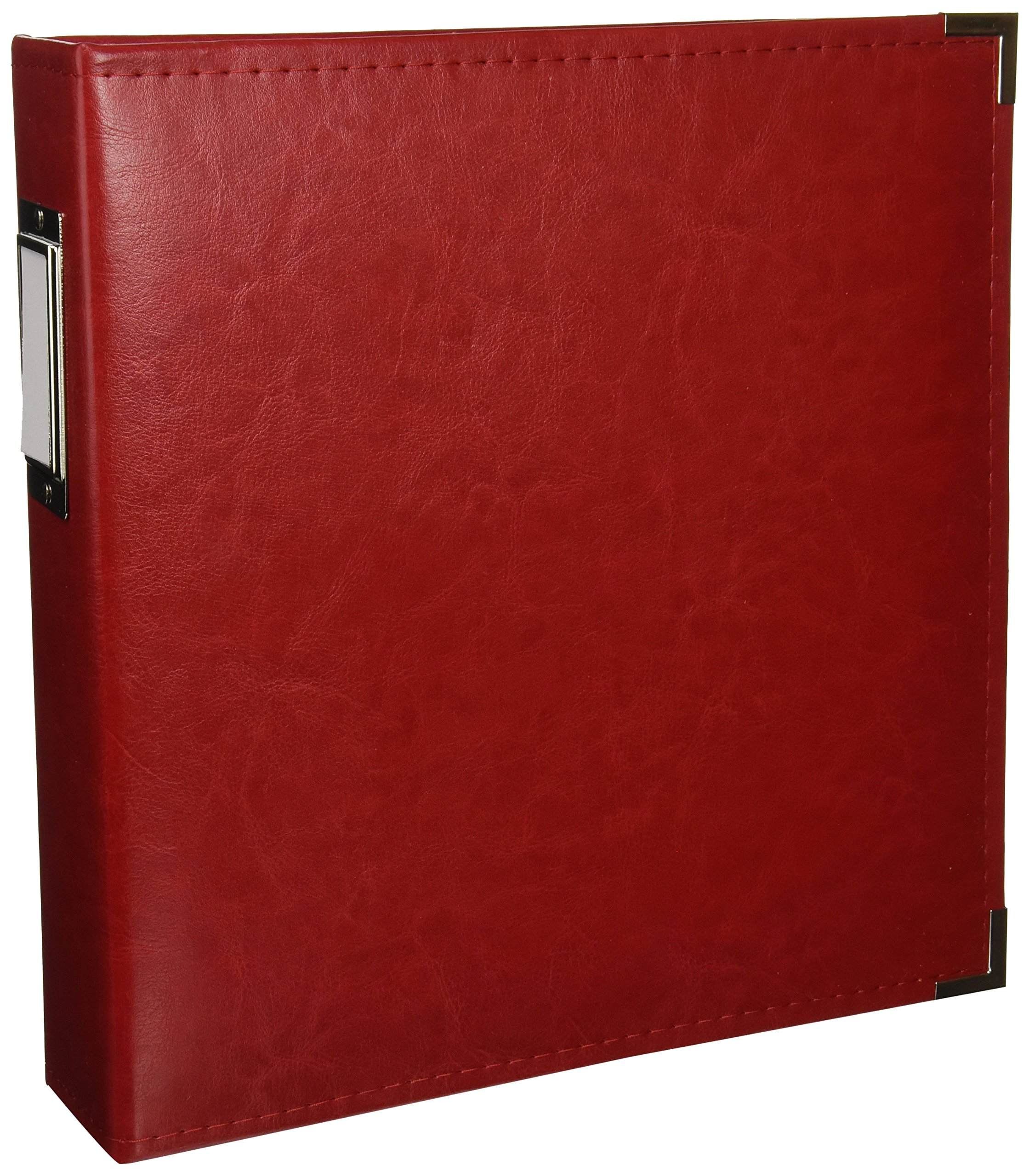 8.5 x 11-inch Classic Leather 3-Ring Album by We R Memory Keepers   Real Red, includes 5 page protectors by We R Memory Keepers