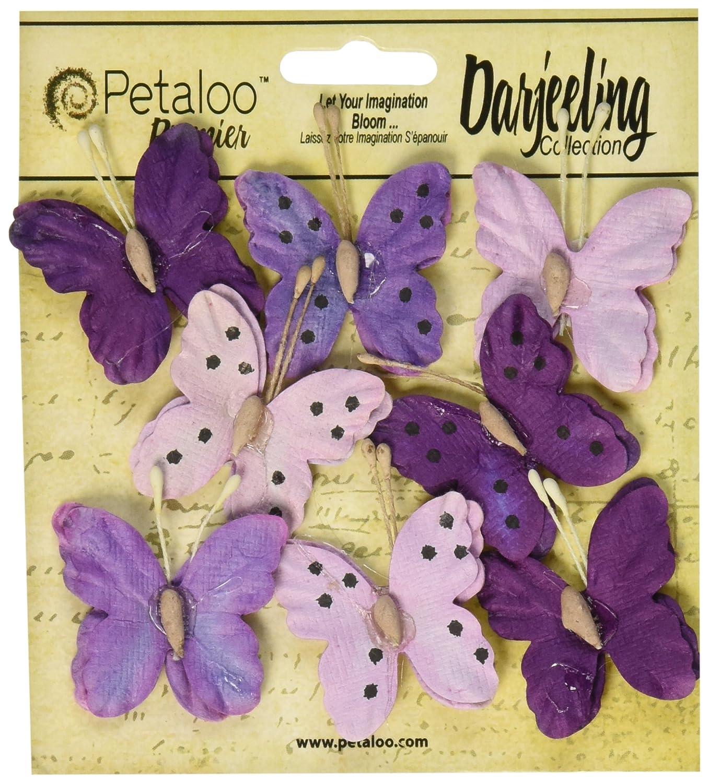 超爆安  Petaloo B00UY0WZO0 Petaloo Darjeeling Teastained Butterflies8パック、1.5インチ Teastained、パープル B00UY0WZO0, 売木村:18ebd370 --- mvd.ee