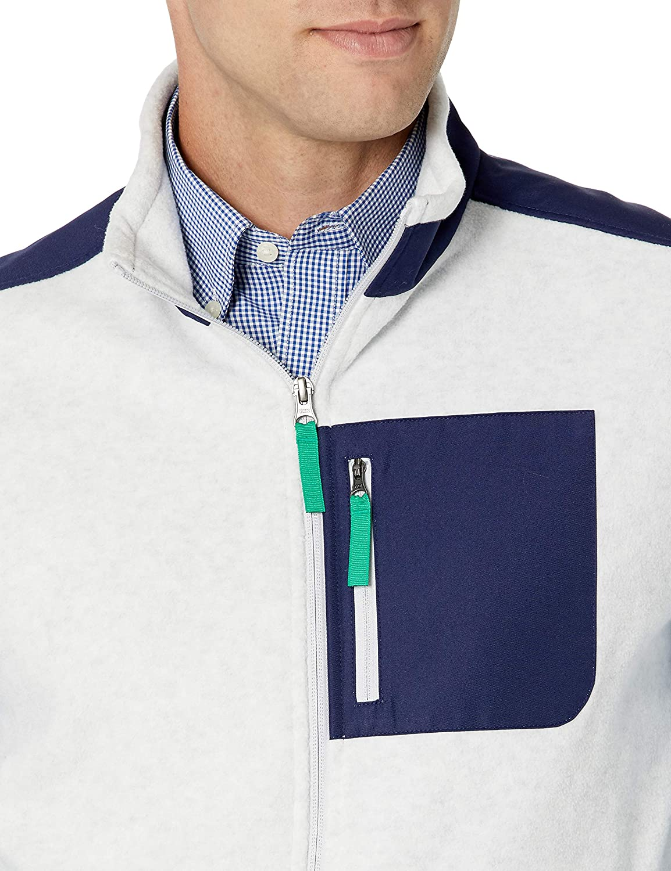Essentials Mens Full-Zip Polar Fleece Vest