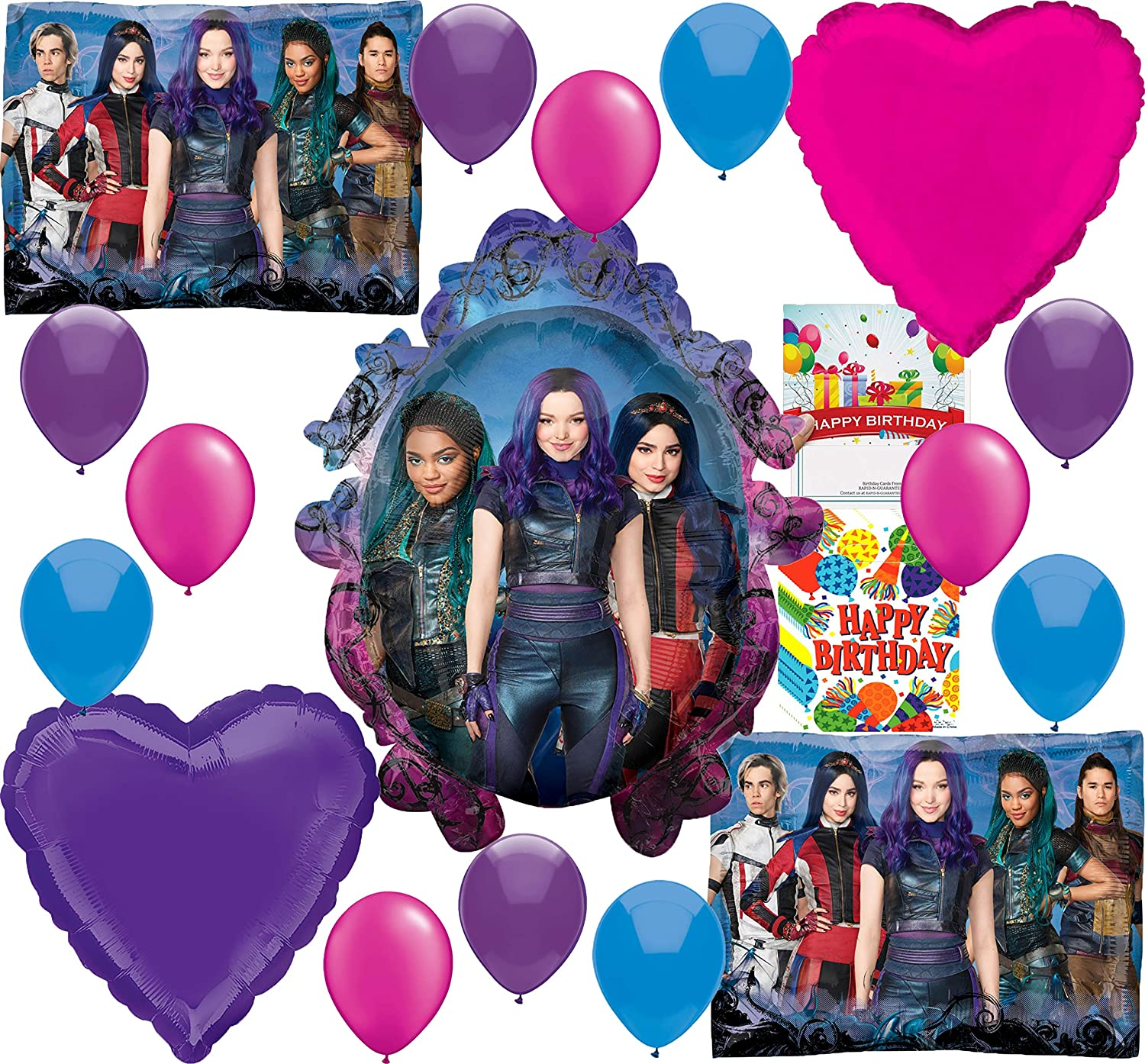 Amazon.com: Descendants 3 Party Supplies - Globo decorativo ...