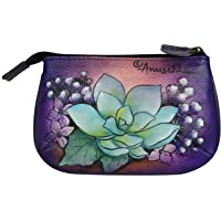 Anuschka womens 1107 Anuschka Hand Painted Medium Coin Purse Cats in Wonderland purple Size: One Size
