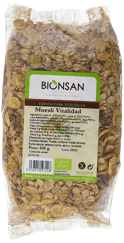Bionsan Muesli Vitalidad - 6 Paquetes de 500 gr - Total: 3000 gr: Amazon.es: Alimentación y bebidas