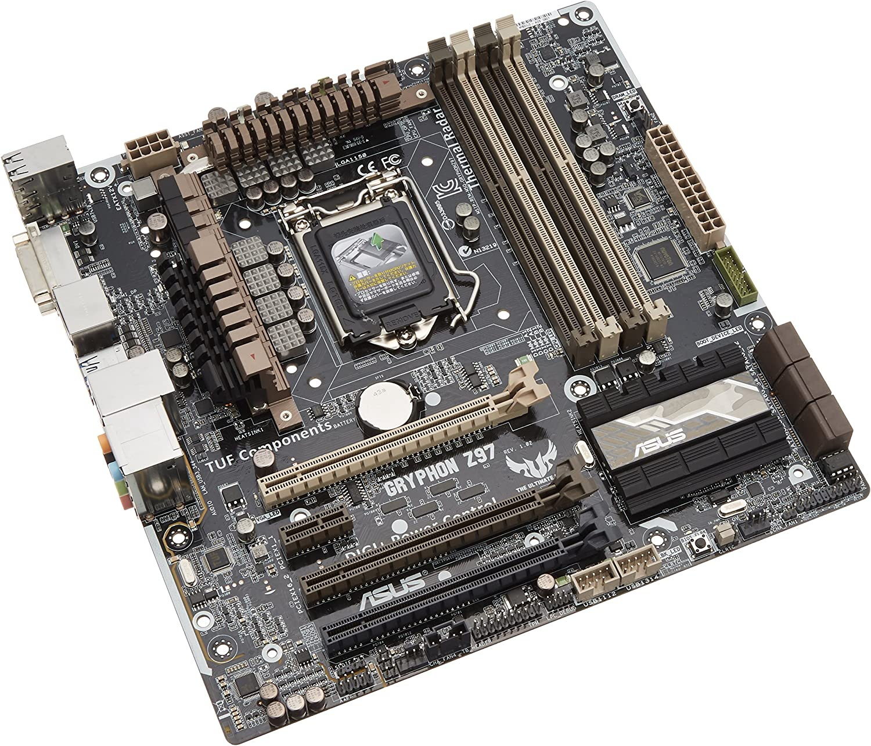 ASUS GRYPHON Z87 Motherboard LGA1150 Chipset Intel Z87 DVI HDMI With I//O Shield