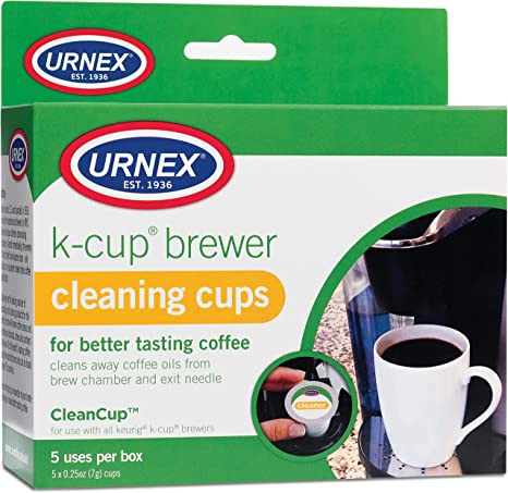 Amazon Com Urnex K Cup Cleaner 5 Cleaning Cups For Keurig Machines Compatible With Keurig 2 0 Removes Stains Non Toxic Brewing And Venting Cleaning Products Kitchen Dining
