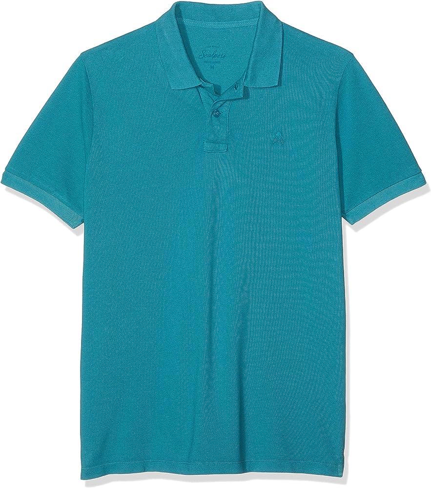 Scalpers Basic Polo, Azul (Duck 18033), Small (Tamaño del Fabricante:S) para Hombre: Amazon.es: Ropa y accesorios
