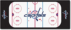 "FANMATS 10565 NHL Washington Capitals Nylon Face Football Field Runner Team Color, 30""x72"""