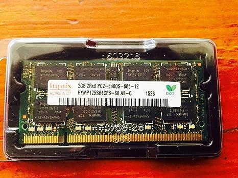 Hynix HYMP125S64CP8-S6 2GB 2Rx8 1.8V 200-Pin SODIMM PC2-6400S-
