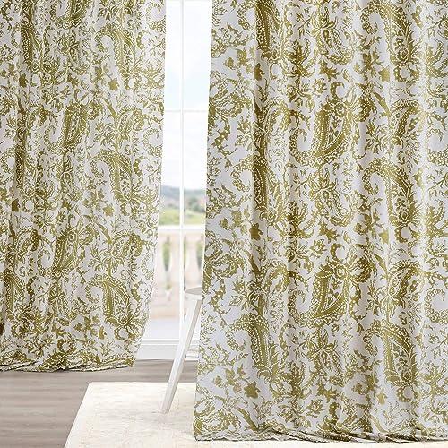 HPD Half Price Drapes PRCT-D09C-84 Printed Cotton Curtain 1 Panel