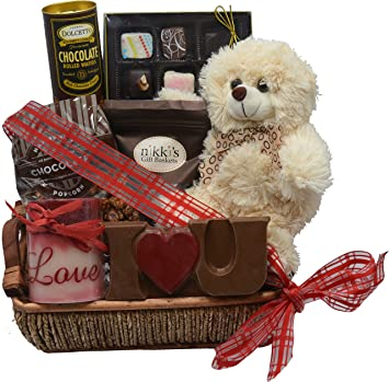 Amazon Com Deluxe Chocolate Love Valentine S Day Gift Hand Made