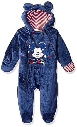 ccb720274152 Amazon.com  Disney Baby Boys  Mickey Mouse Short Pile Pram  Clothing