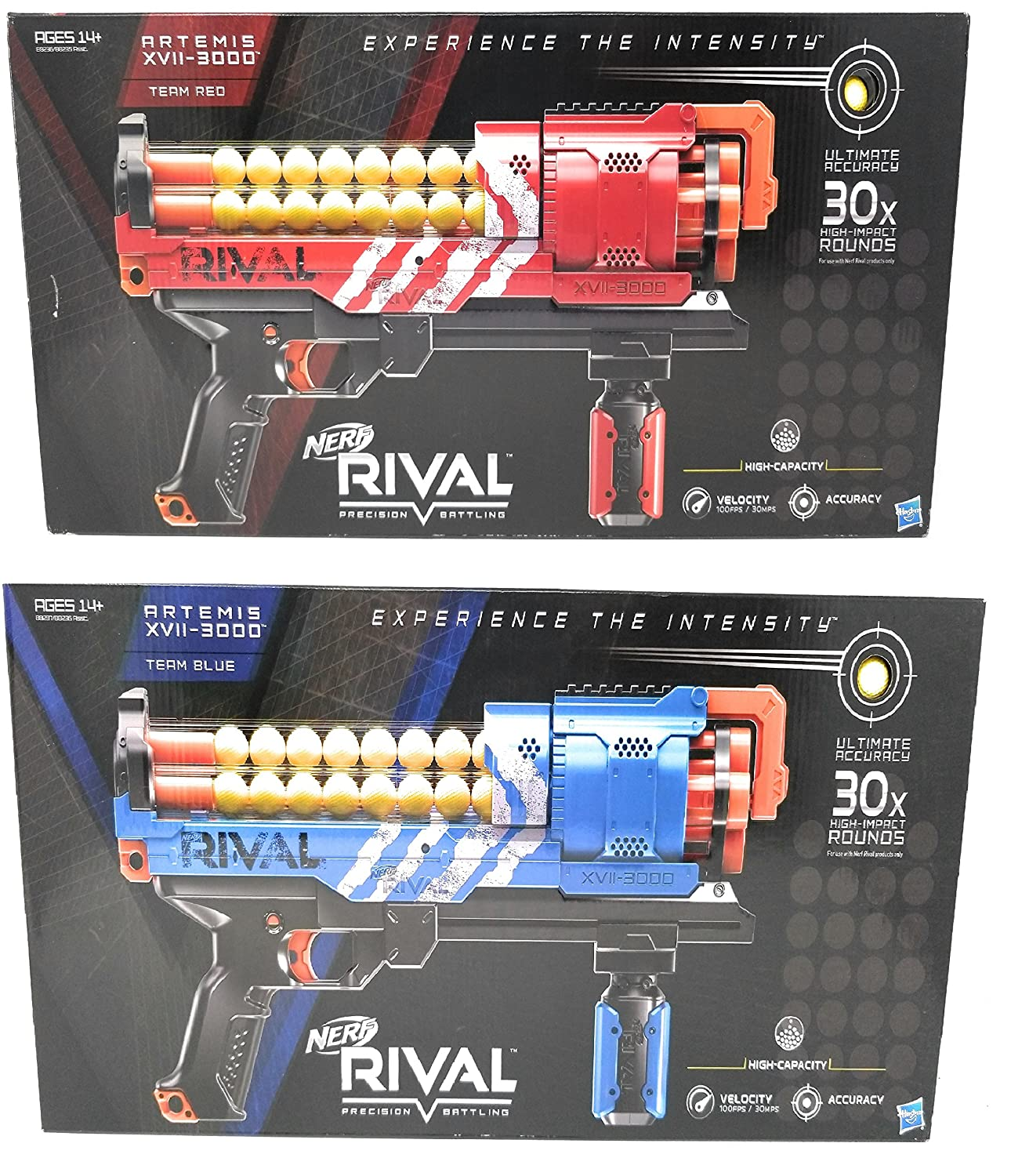 Nerf Artemis Blue and Red Complete Nerf Gear Bundle