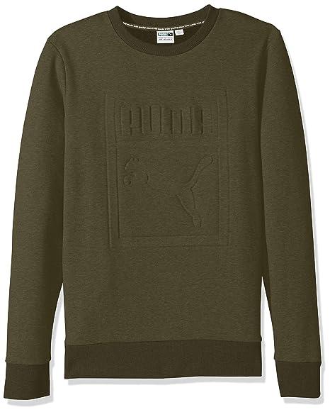 77d23223a937 Puma Men s Archive Embossed Logo Crewneck Sweatshirt  Amazon.in ...