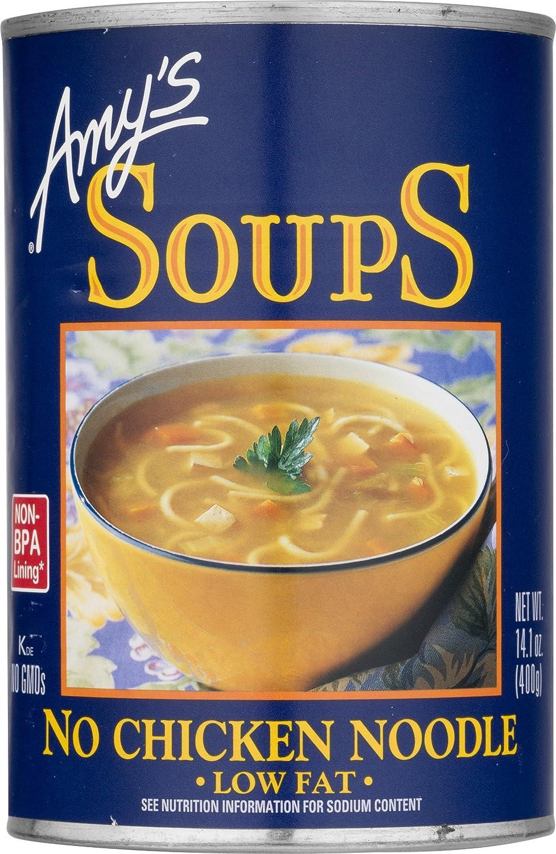 Amy's No Chicken Noodle Soup, Vegan & Non GMO, 14.1 Ounce