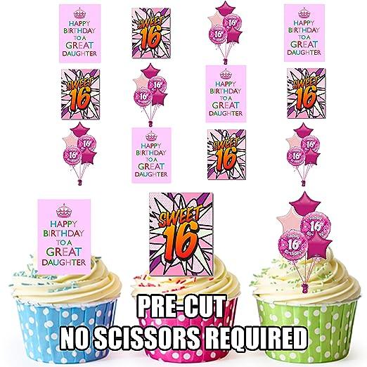 16th tarta de cumpleaños hija decoración - decoración ...