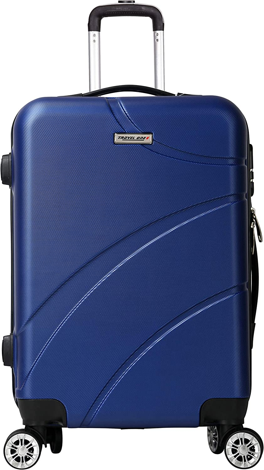 37x22x57Cm 2,3 Kg 42 L Travel One Seaview Valise Cabine Rigide 8 Roues agr/éee Low Cost Marine Taile S