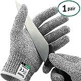 Paire de gants anti coupures Twinzee - Protection de niveau 5 conforme à la norme EN 388 - Tout simplement la meilleure protection qui existe contre les coupures du quotidien (cuisine, jardinage, bricolage) - Taille M
