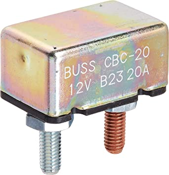 1 Pack Type I Heavy Duty Automotive with Stud Terminals - 50 A Bussmann CBC-50 Circuit Breaker