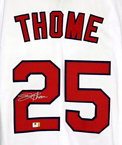 best website 1eb65 91cf2 Jim Thome Cleveland Indians Signed Autographed White #25 ...