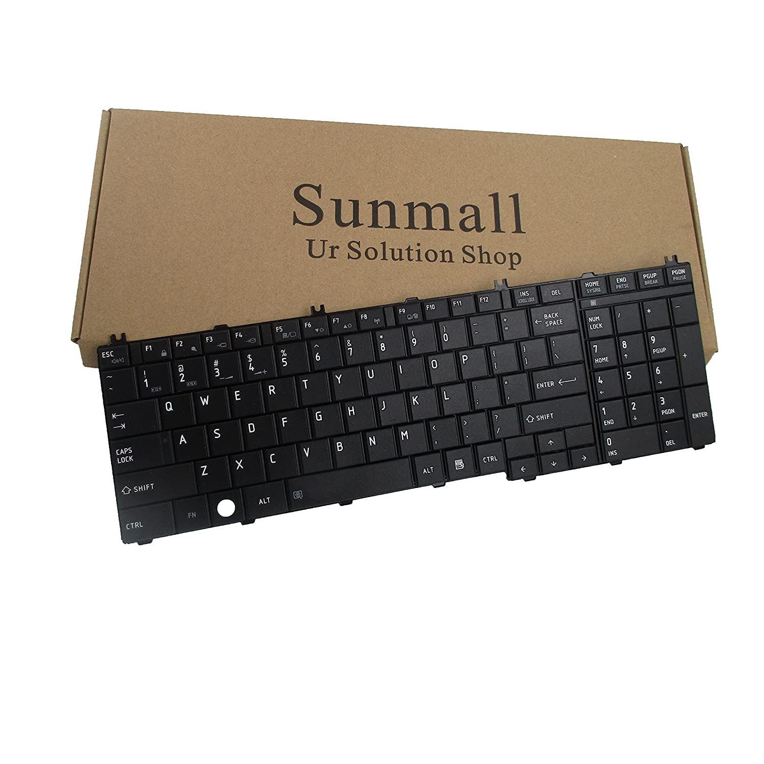 SUNMALL Laptop Replacement Keyboard for Toshiba Satellite Pro C650 C655 C650D C675D B350 T350 L650 L650D L655 L655D L670 L670D L675 L675D L750 L750D L755 L755D L770 L770D L775 L775D Series US Layout (Fulfillment by )
