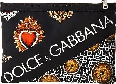 a1936e5bf2 Dolce   Gabbana Men s Sacred Heart Pouch Black One Size  Amazon.co ...