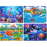 Puzzles for Kids Ages 4-8 Year Old 60 Piece Colorful Wooden Kids Puzzles Children Learning Educational Puzzles Toys for Boys