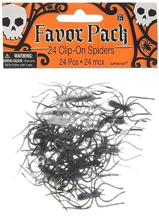 24 grapas con arañas de plástico - chucherías de Halloween ...