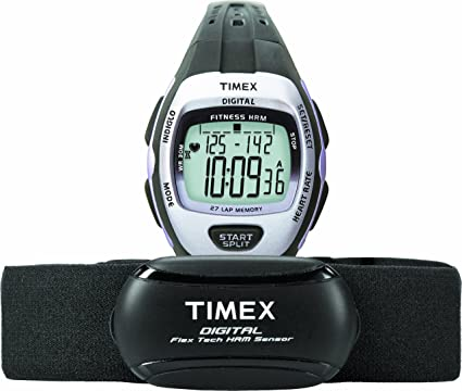 Timex Women's Zone Trainer Heart Rate Monitor with Resin Strap Watch
