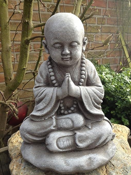 piedra Figura Figura de Buda escultura de jardín Decoración Koi estanques jardín figuras de piedra Piedra Figura Figura de Buda escultura de jardín Decoración Koi estanques jardín figuras de piedra: Amazon.es: Jardín