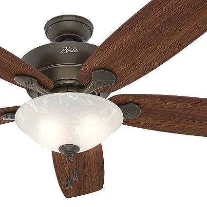 Hunter fan 60 great room ceiling fan in new bronze with swirled hunter fan 60quot great room ceiling fan in new bronze with swirled marble glass light audiocablefo